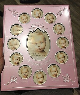 My First Year Photo Frame Pink *NEW* RRP £14