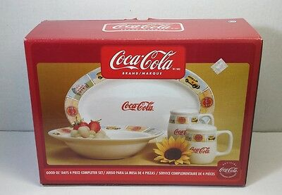 Coca Cola Dinnerware Plate Bowl Salt Pepper Shakers Dishes Gibson Good Ol' Days