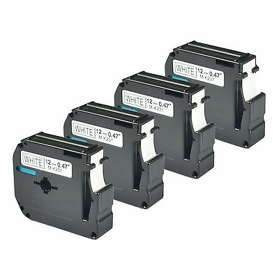 4 Compatible Brother M231 M-K231 MK231 Label Tape for P-touch PT-90 US-Stock