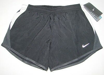 NWT Nike Dri Fit Tempo Girls Black Running Athletic Shorts Size Small