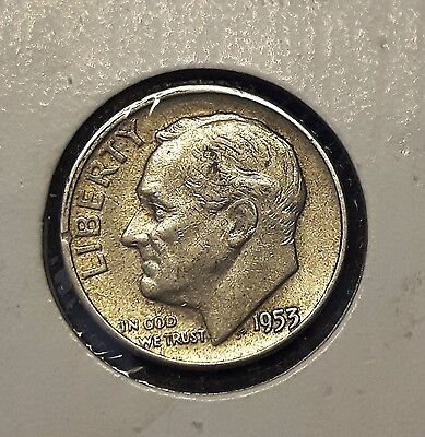 1953  ROOSEVELT DIME USA 10 Cents Silver
