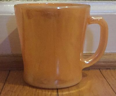 Vintage Fire King Peach Luster Coffee Mug Cup D Handle, anchor hocking