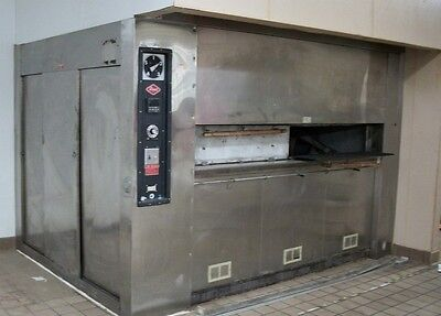 REED REVOLVING or ROTARY BAKERY OVEN Five Shelf 25 Pan Natural Gas Store Closing