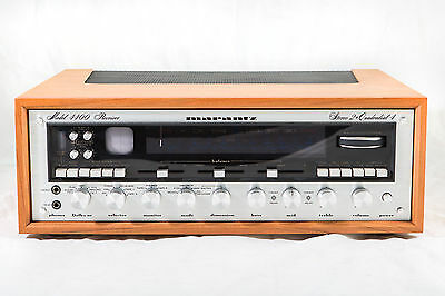 Marantz 4400 Am/fm Quad Receiver Recently Serviced New Wood Cabinet