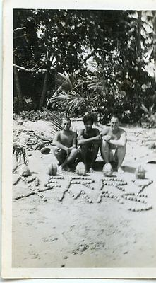 Vintage SAILORS SOLDIERS MILITARY Photo MERRY CHRISTMAS 1950s Japan? Far East ?