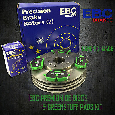 NEW EBC 323mm REAR BRAKE DISCS AND GREENSTUFF PADS KIT OE QUALITY - PD01KR407