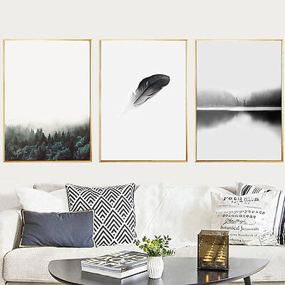 Nordic Art Forest Canvas Poster Abstract Minimalist Painting Wall Art Decoration