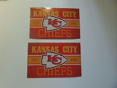 Lot Of 2-Kansas City Chiefs Nfl Approved Brand New Vintage Stickers