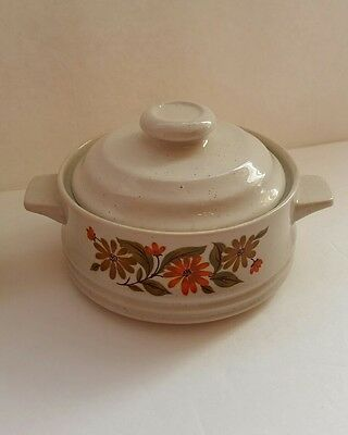 Capri Bake Stoneware Serve'n Store 2 Individual Casserole Dishes Flowers w/ Lid