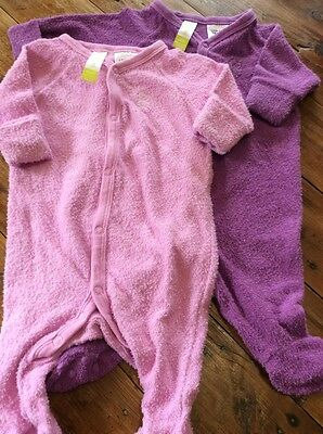 2 X One Piece Suits Dymples Pink Purple Size 000 Preloved Baby Girl