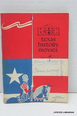 vtg MOBIL OIL Magnolia Petroleum~Texas State History Student Classroom Book 1956
