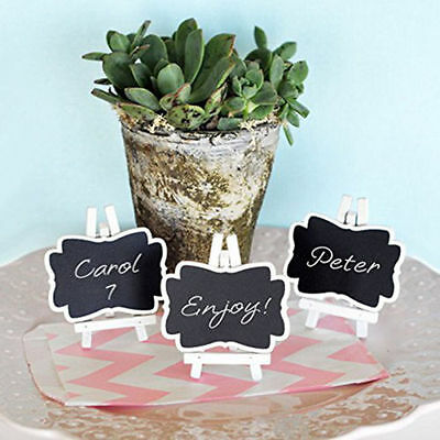 3pcs Mini Framed Chalkboard Place Cards/Memo/Name Stand with Easel