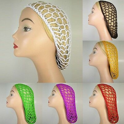 Women Stretchable Elastic Snood  Bouffant Fish Hair Net Crochet Hairnet Cap