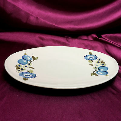 "Iroquois Informal Blue Vineyard by Ben Seibel, Small Oval Platter, 11 7/8"" Long"