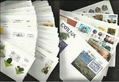 Spain Year 2001 Complete in envelopes of first day