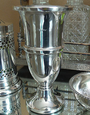 ART DECO SILVER PLATED VASE-JAMES DAVENPORT-c1920/30s **