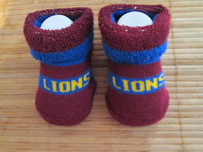 Baby's  Lion Afl  Socks. Size 0 -6 Months. New No Tags
