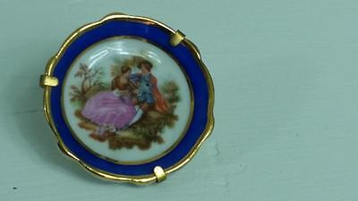 Miniature Limoges Vertable Porcelain Plate with Stand