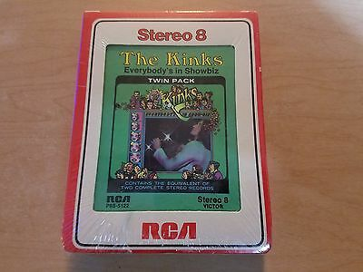 The Kinks Everybody's In Showbiz SEALED 8 Track Tape Double Play