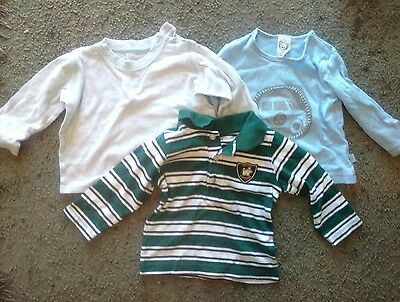 baby boys long sleeve tops size 0
