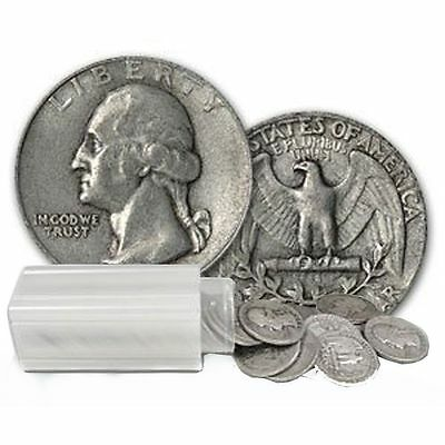 SALE PRICE BETTER DATES Roll of 40 $10 FV 90% Silver Washington Quarters 1934-59