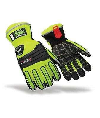 Ringers 327-11 Extrication Barrier One Kevlar Palm Glove Hi Vis Size X-Large