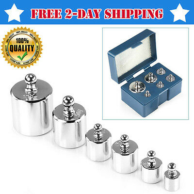 6PCS 205gr Precision Calibration Weight Steel Kit Set Electronic Balance Scale