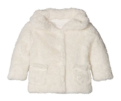 NEW Pumpkin Patch Whispering Earth Fluffy Jacket, French Vanilla, Size 0 (6-12M)