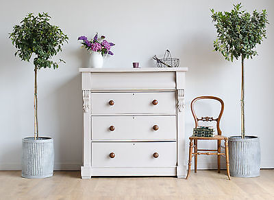 Large Antique Victorian Scottish Chest of Drawers Tallboy Painted Farrow & Ball