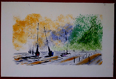 `Wooton Creek` c 1960 Original Signed Painting in a Mixed Medium.