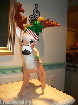 """2011 Annalee 16"""" Poseable Shimmermint Reindeer 966011  ~ NEW!!!"""