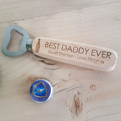 Dad Personalised Daddy Beer Bottle Opener Birthday Gift, Present, Christmas