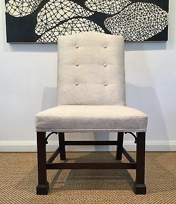 Chippendale Style Chair  Toile Fabric Cuban Mahogany