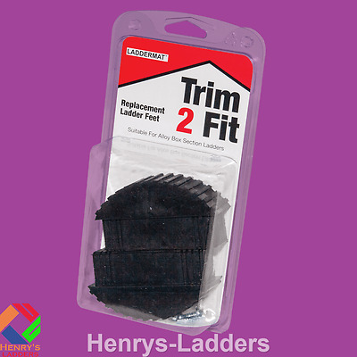 TRIM 2 FIT Replacement Ladder Feet - Box End- 1 Pair by Laddermat