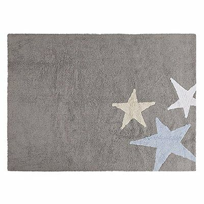 Lorena Canals C-TE-GA Tres Estrellas Tricolor Grey – Blue Washable Rug, (u1h)