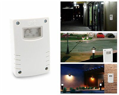 Light Switch Outdoor Waterproof Timer LUX Time Adjustable Photocell Programmable