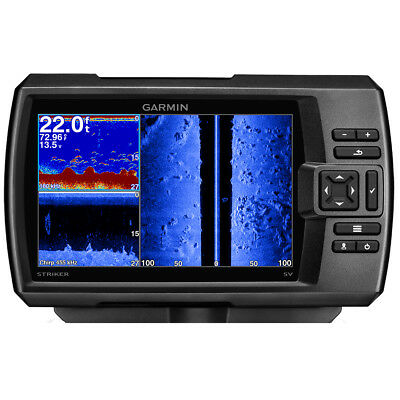 Garmin STRIKER 7sv Fishfinder w/HIgh Wide CHIRP 150-200kHz 12-Pin Tranducer