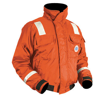 Mustang Classic Bomber Jacket w/SOLAS Reflective Tape - Large - Orange