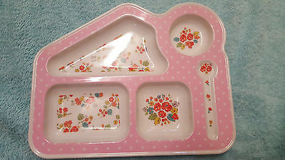Cath Kidston Pink Floral Toddler/feeding  Plate, Gorgeous,fab Condition!