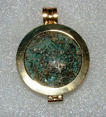 ancient roman glass fragment with very lovely patina pendant...
