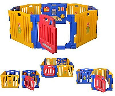 Star Ibaby Play Twin – Box da bebè XXL, 8 pezzi (n7t)