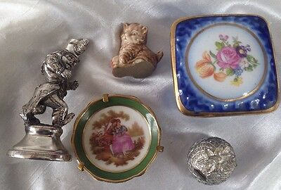 Mix Lot Of Porcelain Dresden , Fragonard And Others, 5 Items Good Condition
