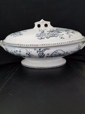 Very Rare Elsmore & Forster ?? Tureen With U.s. Patent Date On Handles
