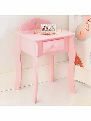 Amelia Shabby Chic Pink Heart Children's Bedside Cabinet Drawer Easy Assembly