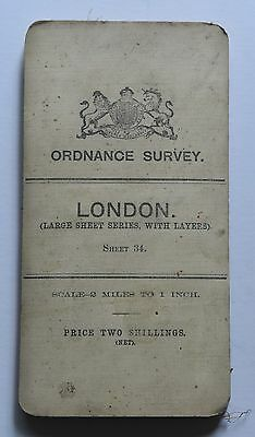 1908 Ordnance  Survey map of London, Large Sheet Series, with Layers