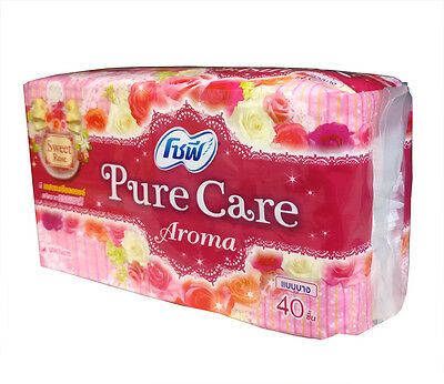 SOFY Pure Care Aroma Sweet Rose Essential Oil Daily Sanitary Pads Napkins 40 pcs