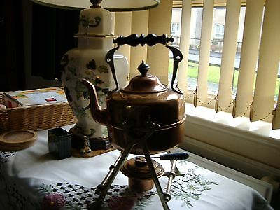 Vintage Copper Tipping Kettle With Stand