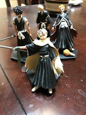 Bleach Figure Set Lot: Ichigo, Hitsugaya,izuru & Hisagi Used Figures