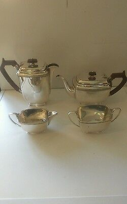 A SUPERB ART DECO,SILVER PLATE TEA SET (Stower &Wragg)