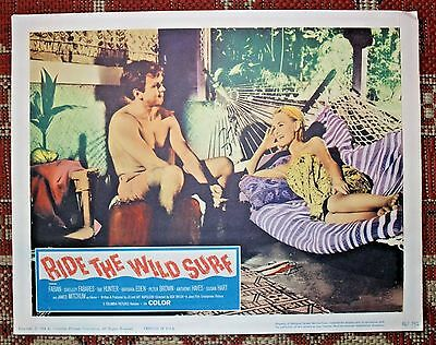 RIDE THE WILD SURF Vintage Lobby Card Movie Poster 1964 HAWAII Surfing FABIAN